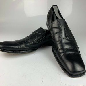 "Robert Wayne ""Nathan"" Black Leather Loafers 10"